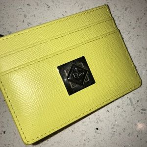 Yellow Dior Cardholder